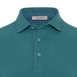 La Fileria - La Fileria Gömlek Yaka Yeşil Vintage Slim Fit T-Shirt (1)