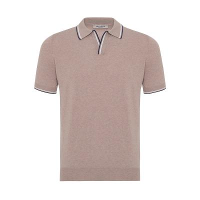 La Fileria - La Fileria Polo Yaka Bej Slim Fit Triko