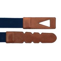 La Portegna - La Portegna Cotton Leather Hand made Navy Travel Belt (1)