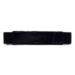 La Portegna - La Portegna Cotton Leather Hand made Black Travel Belt