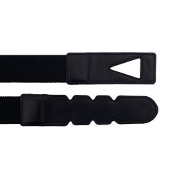 La Portegna - La Portegna Cotton Leather Hand made Black Travel Belt (1)