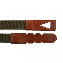 La Portegna - La Portegna Cotton Leather Hand made Green Travel Belt (1)