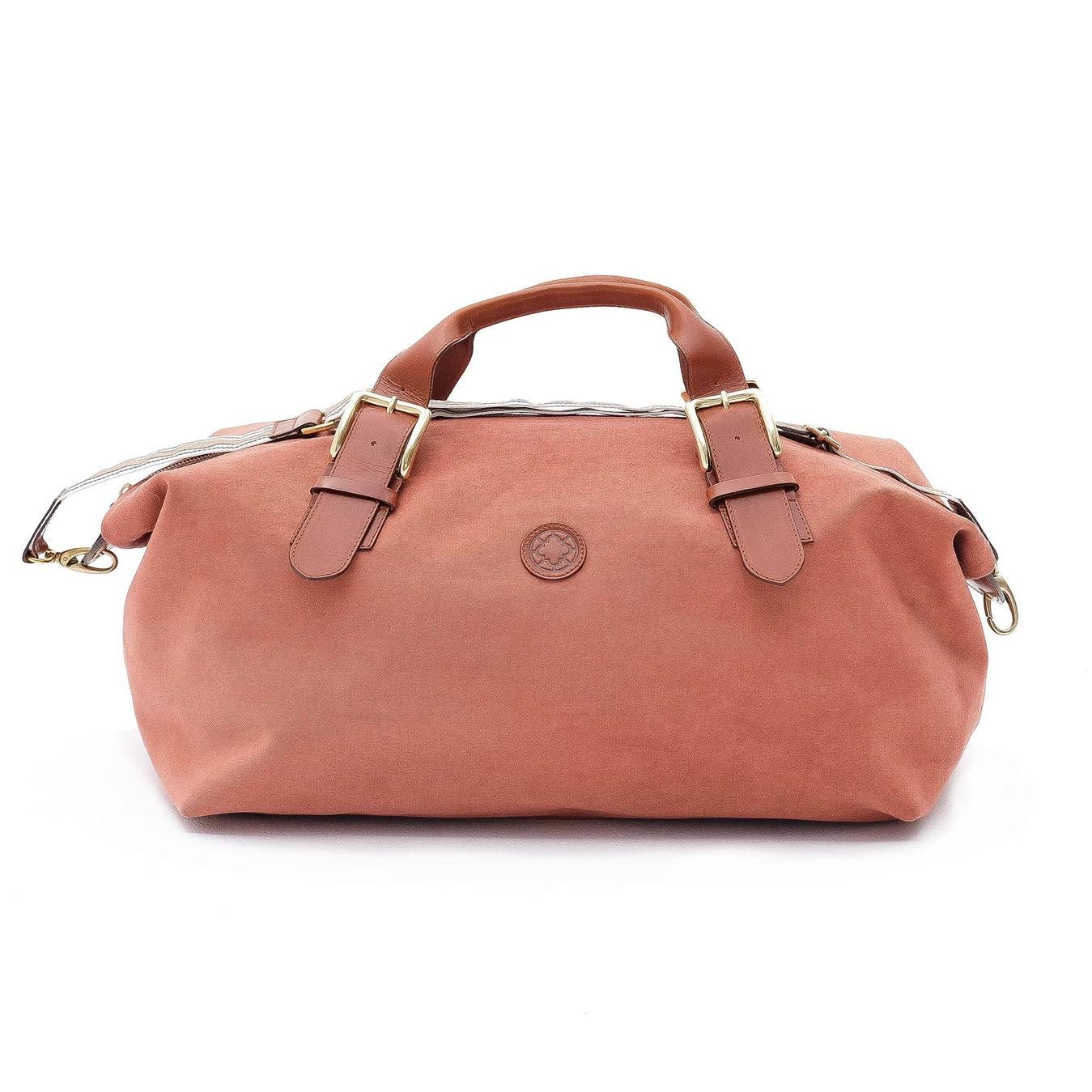 La Portegna - La Portegna Waterproof Hand Made Stone Washed Canvas Terracotta Red Travel Bag