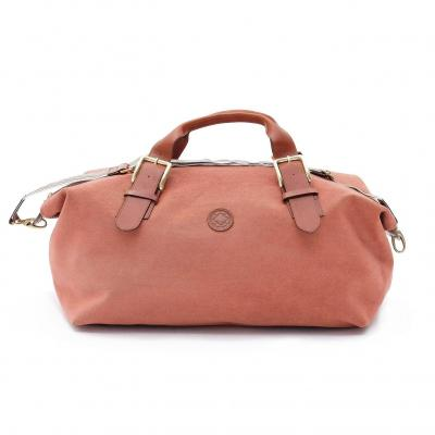 La Portegna - La Portegna Waterproof Hand Made Stone Washed Canvas Terracotta Red Travel Bag