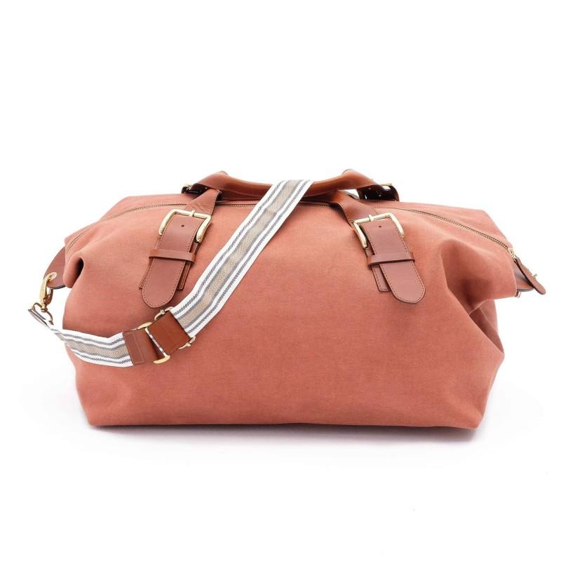 La Portegna - La Portegna Waterproof Hand Made Stone Washed Canvas Terracotta Red Travel Bag (1)
