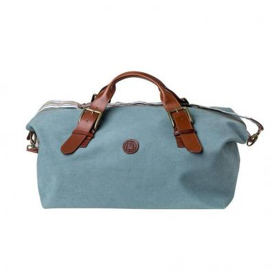 La Portegna - La Portegna Waterproof Hand Made Stone Washed Canvas Terracotta Green Travel Bag