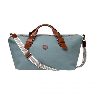 La Portegna - La Portegna Waterproof Hand Made Stone Washed Canvas Terracotta Green Travel Bag (1)