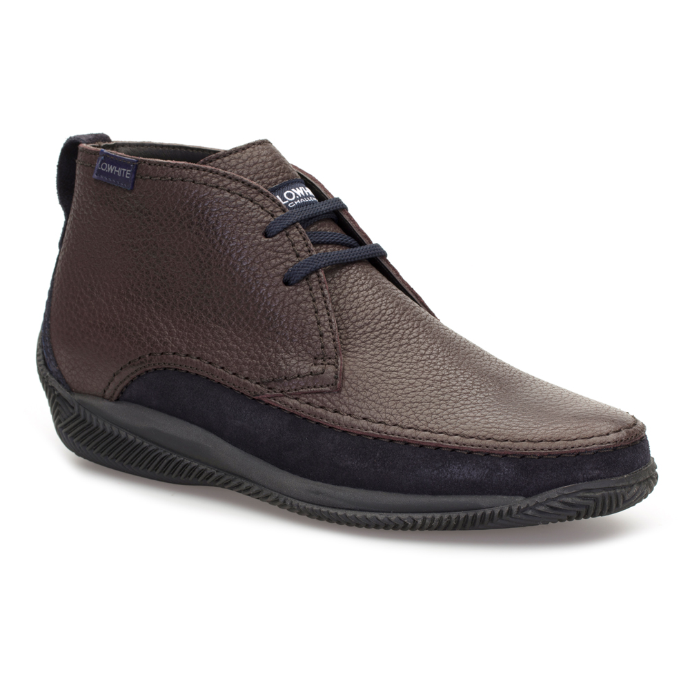 LO.White Brown Leather Shoes