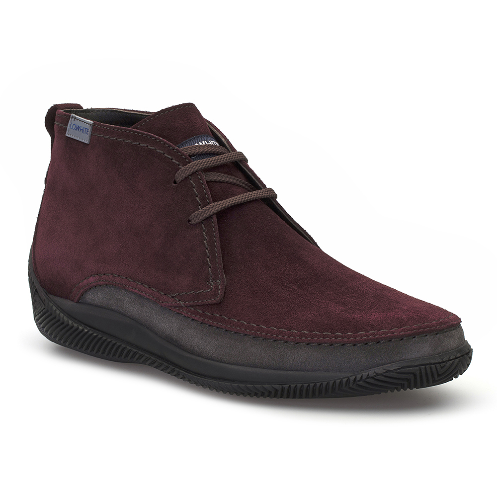 LO.White Handmade Claret Red Suede %100 Italian Shoe