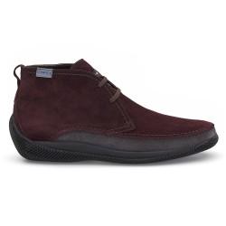 LO.White - LO.White Handmade Claret Red Suede %100 Italian Shoe (1)