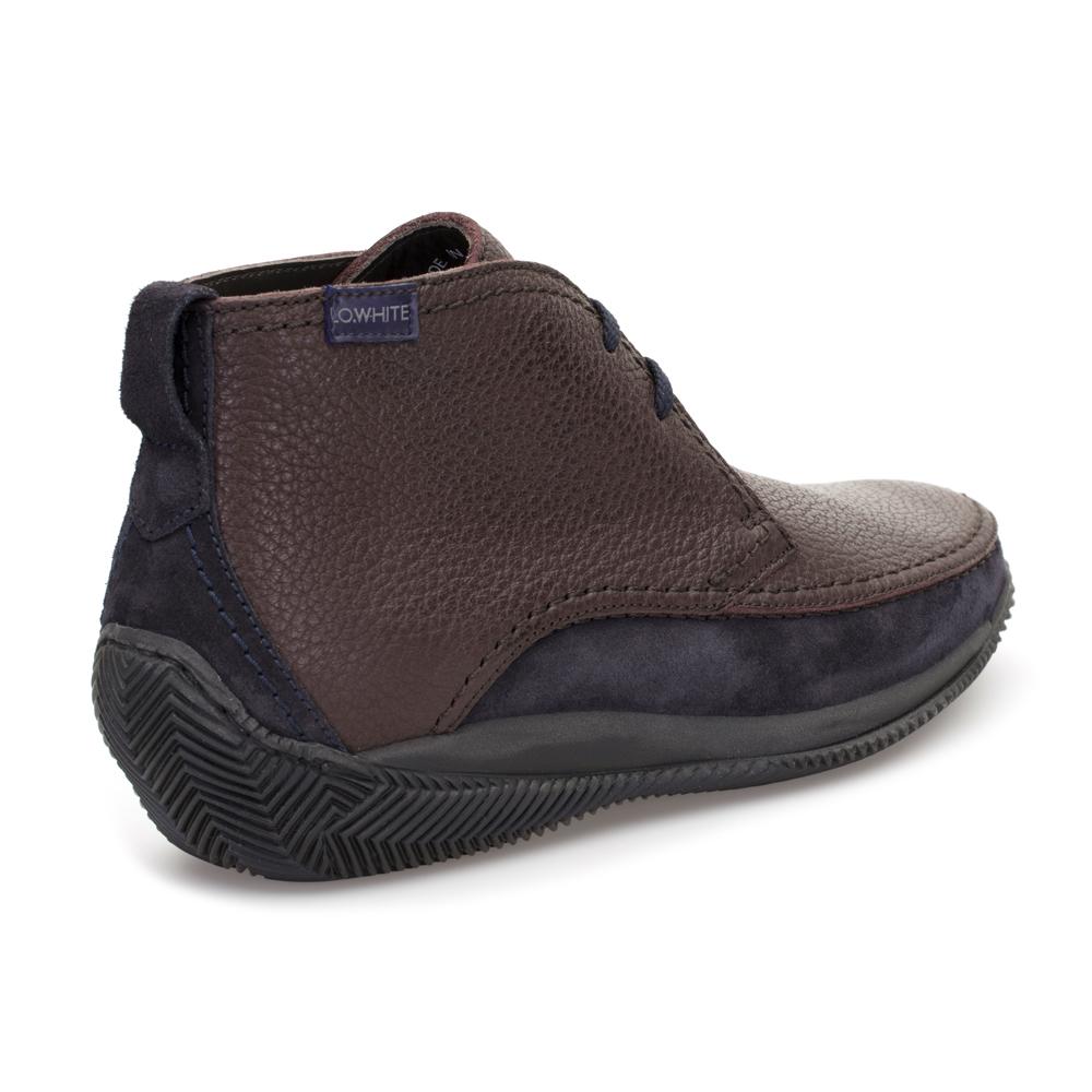 LO.White Kahverengi Deri Bot Ayakkabı