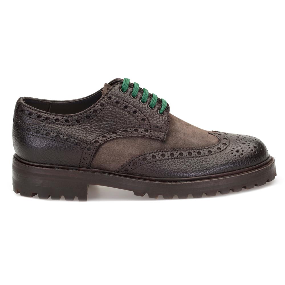 LO.White Kahverengi Deri Süet Ayakkabı Ayakkabı