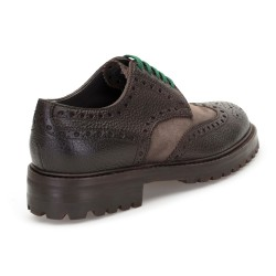 LO.White Kahverengi Deri Süet Ayakkabı Ayakkabı - Thumbnail