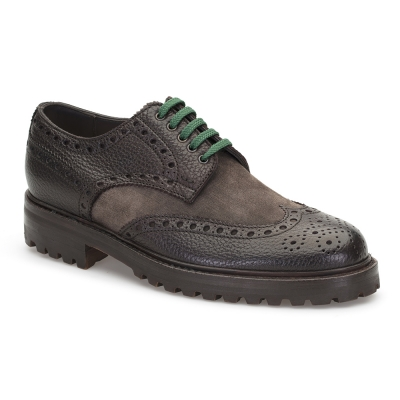 LO.White - LO.White Kahverengi Deri Süet Ayakkabı Ayakkabı