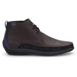 LO.White - LO.White Deri El Yapımı Kahve Deri / Lacivert Süet %100 Italyan Ayakkabı (1)
