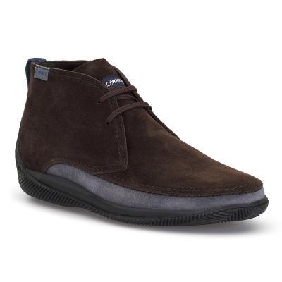 LO.White - LO.White El Yapımı Kahve / Kül Rengi Süet %100 Italyan Ayakkabı