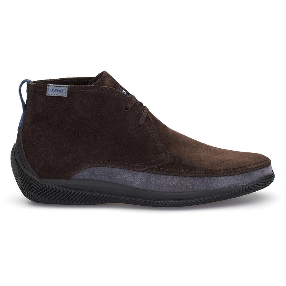 LO.White El Yapımı Kahve / Kül Rengi Süet %100 Italyan Ayakkabı