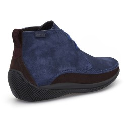 LO.White LO WHITE El Yapımı Lacivert- Mavi / Kahve Süet %100 Italyan Ayakkabı - Thumbnail