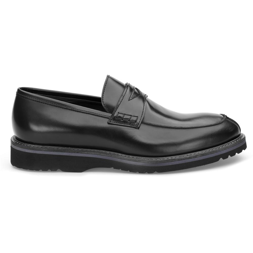 LO.White Siyah Deri Loafer Ayakkabı