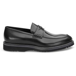 LO.White Siyah Deri Loafer Ayakkabı - Thumbnail