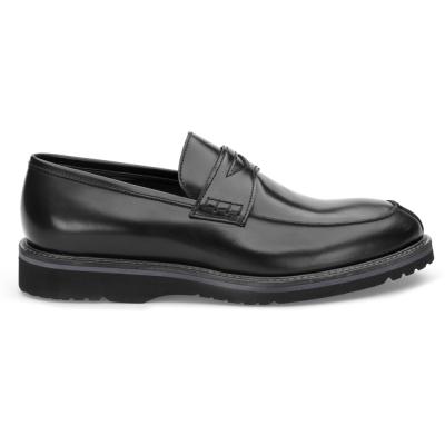 LO.White - LO.White Siyah Deri Loafer Ayakkabı (1)