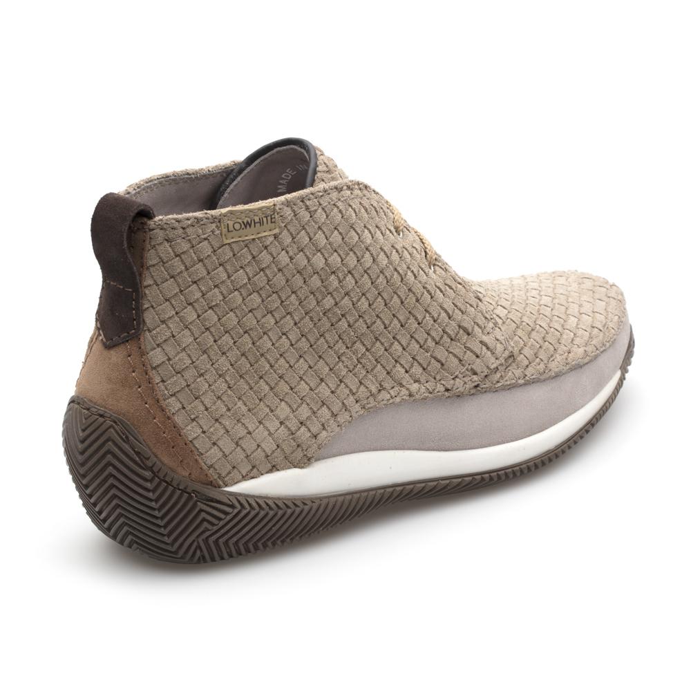 LO.White Suede Handmade Knitting Natural Beige Italian Shoe