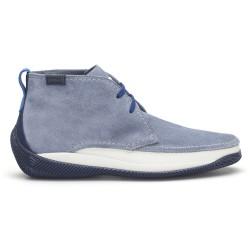 LO.White - LO.White Süet El Yapımı Gök Mavi Ayakkabı (1)