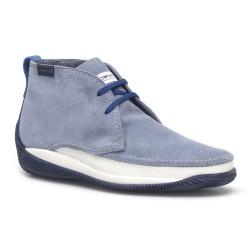 LO.White - LO.White Süet El Yapımı Gök Mavi Ayakkabı