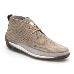LO.White - LO.White Süet El Yapımı Örgü Natural Bej Italyan Ayakkabı