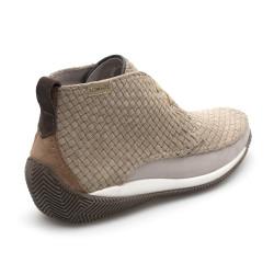 LO.White Süet El Yapımı Örgü Natural Bej Italyan Ayakkabı - Thumbnail