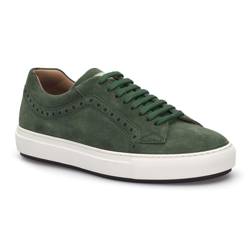 LO.White - LO.White Yeşil Süet Ayakkabı