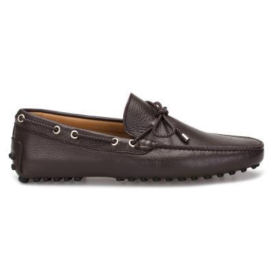 PD - Patrizio Dolci Kahverengi Deri Bağcıklı Driver's Ayakkabı (1)