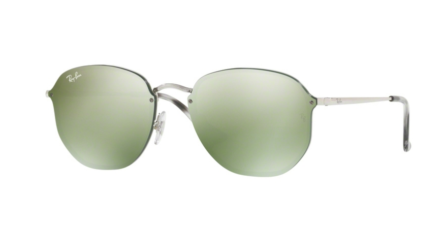 Ray-Ban - Ray-Ban Blaze Hexagonal Silver Sunglasses