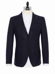 Sartoria Latorre - Sartoria Latorre Lacivert Tweed Astarsız Spor Doğayla Barışık Ceket