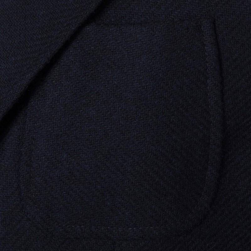 Sartoria Latorre - Sartoria Latorre Lacivert Tweed Astarsız Spor Doğayla Barışık Ceket (1)