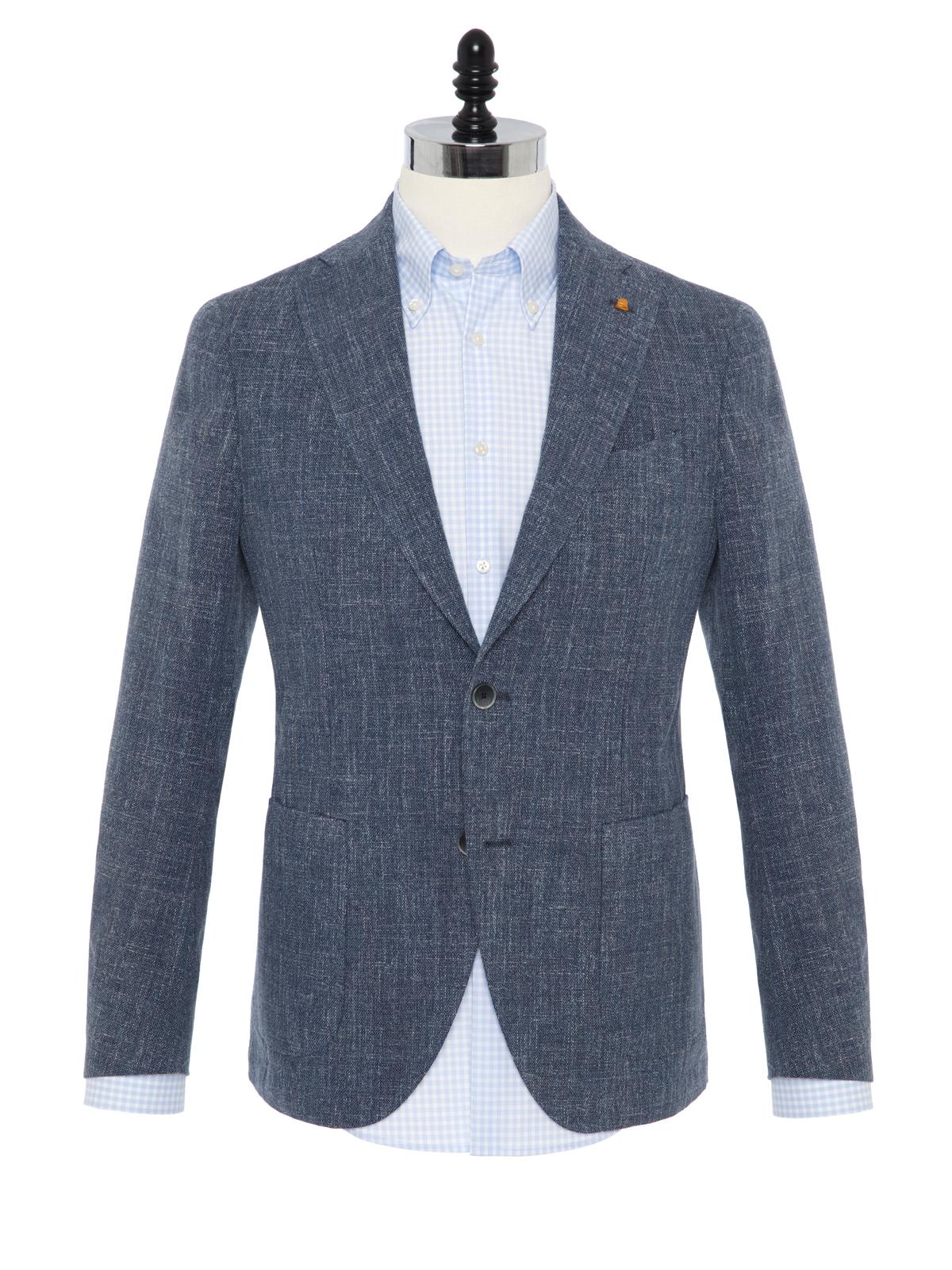 Sartoria Latorre - Sartoria Latorre Blue Navy Melange Unlined Jacket