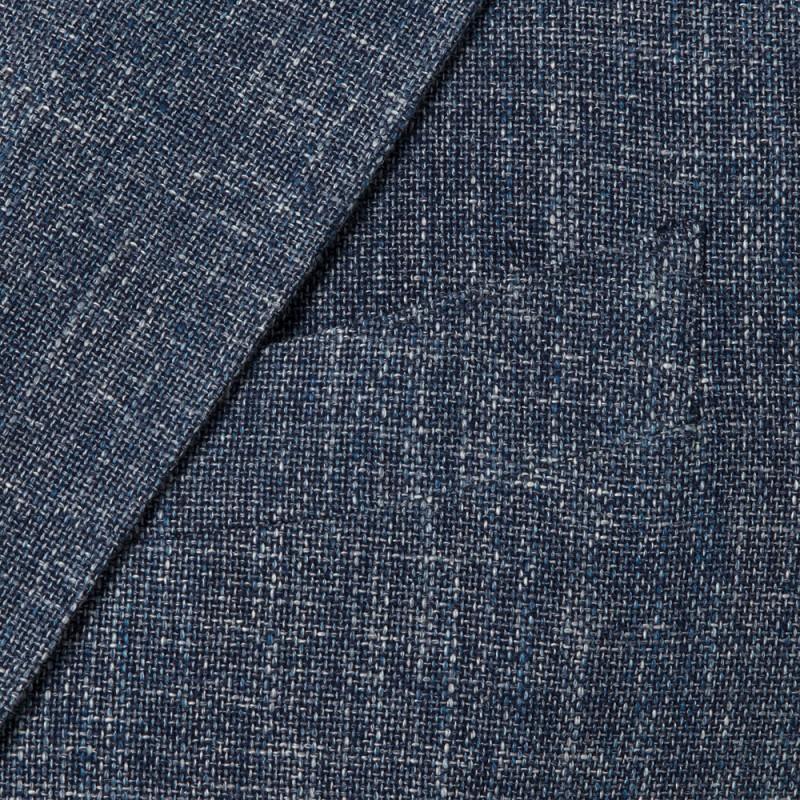 Sartoria Latorre - Sartoria Latorre Blue Navy Melange Unlined Jacket (1)