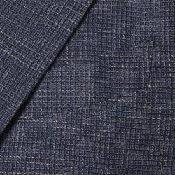 Sartoria Latorre - Sartoria Latorre Mavi Lacivert Bej Dokulu Astarsız Ceket (1)