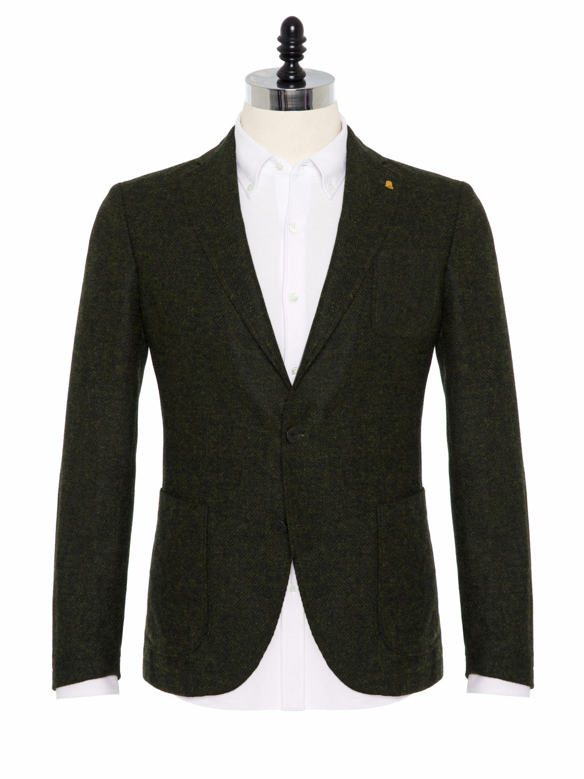 Sartoria Latorre Yeşil Tweed Astarsız Spor Doğayla Barışık Ceket
