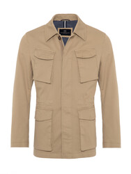 10 - Schneiders Beige Micro weaved Washed Field Jacket