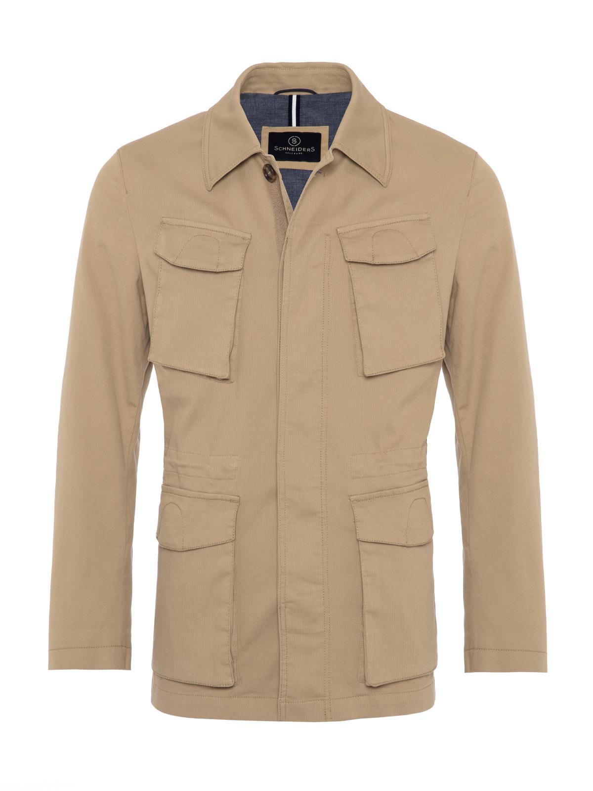 Schneiders - Schneiders Beige Micro weaved Washed Field Jacket