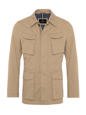 Schneiders - Schneiders Beige Micro weaved Washed Field Jacket