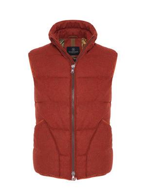 Schneiders Brick Color Wool Premium Down Waterproof Waistcoat