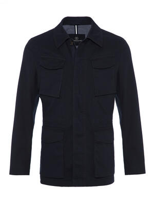Schneiders - Schneiders Navy Micro weaved Washed Field Jacket