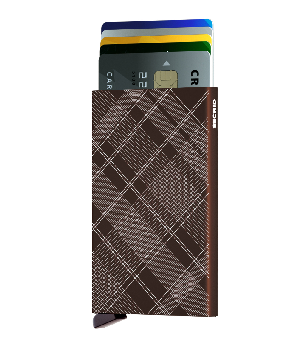 Secrid Cardprotector Laser Brown Cüzdan