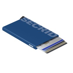 Secrid Cardprotector Laser Logo Blue Wallet - Thumbnail
