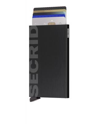 Secrid - Secrid Cardprotector Laser Logo Brushed Black Cüzdan (1)