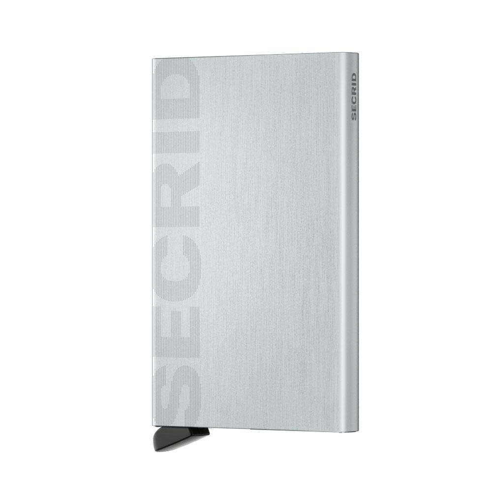 Secrid Cardprotector Laser Logo Brushed Silver Cüzdan