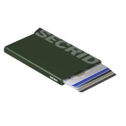 Secrid Cardprotector Laser Logo Green Cüzdan - Thumbnail