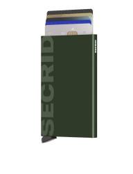 Secrid Cardprotector Laser Logo Green Wallet - Thumbnail